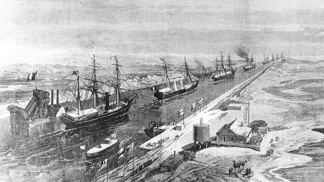 Historisches Bild zum Sueskanal
