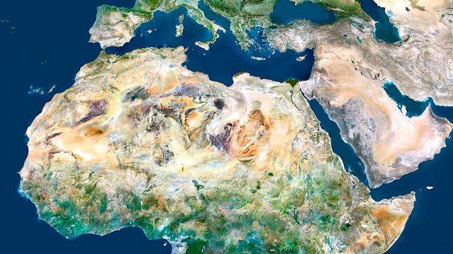Satellitenbild von Nordafrika