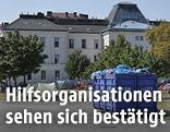 """Gelände der """"Erstaufnahmestelle Ost"""" in Traiskirchen"""