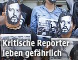 Proteste gegen den Mord des Journalisten Ruben Espinosa