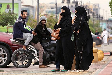 Straßenszene in Riyadh, Saudi Arabien