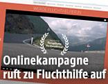 Onlinekampagne zur Fluchthilfe