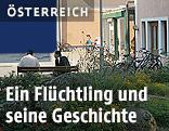 "Asylwerber vor dem Asylwerberheim ""Haus Bethanien"""