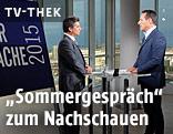 Heinz-Christian Strache und Hans Bürger im ORF-Sommergespräch