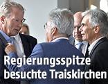 Vizekanzler Reinhold Mitterlehner, Bundespräsident Heinz Fischer und Bundeskanzler Werner Faymann