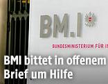 Schild des BMI