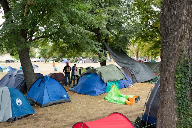 Eindrücke aus dem Flüchtlingslager Traiskirchen