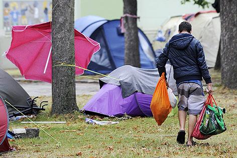 Ein Asylwerber in Traiskirchen