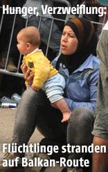 Flüchtlinge in der serbischen Grenzstadt Presovo