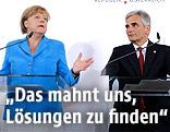 Die deutsche Bundeskanzlerin Angela Merkel und Österreichs Bundeskanzler Werner Faymann