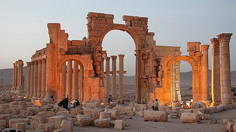 Der Baal Schamin Tempel in Palmyra