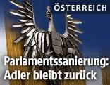Adlerfigur im Parlament