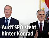 Vizekanzler Reinhold Mitterlehner (ÖVP) und Bundeskanzler Werner Faymann (SPÖ)