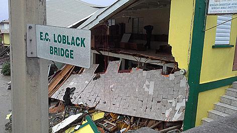 Schäden an einem Haus