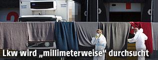 Lkw der Schlepper in Nickelsdorf