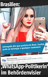 Lidiane Leite, Bürgermeisterin der brasilianischen Stadt Bom Jardim