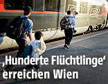 Flüchtlinge am Wiener Westbahnhof