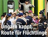 Polizei Flüchtlinge am Bahnhof