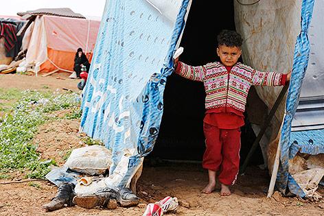 Syrische Flüchtlinge in Madabe, Jordanien