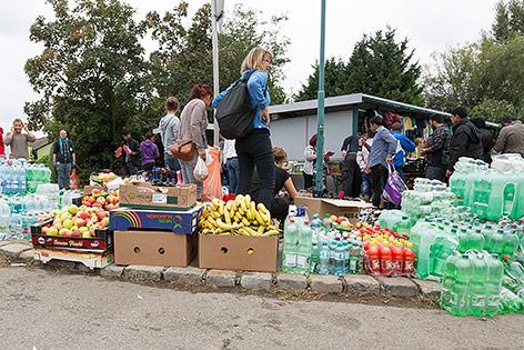 Freiwillige Helfer in Nickelsdorf