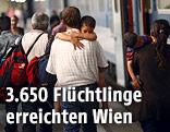 Flüchtlinge am Westbahnhof Wien
