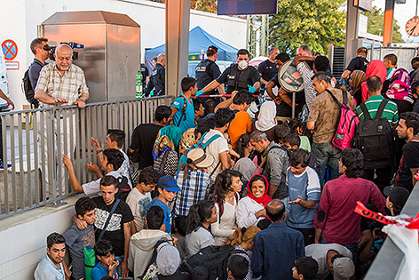 Flüchtlinge am Bahnhof Rosenheim, München