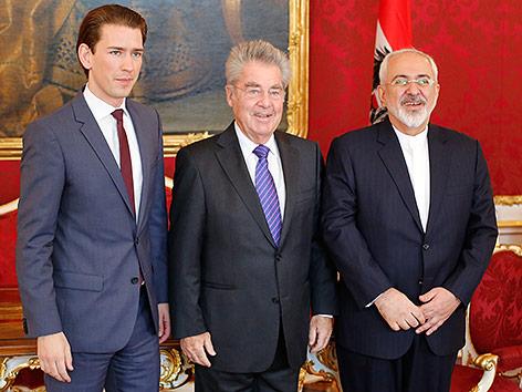 Sebastian Kurz, Heinz Fischer, Javad Zarif