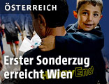 Flüchtlinger am Westbahnhof