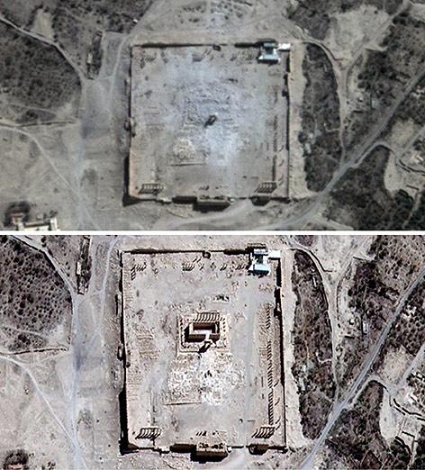 Satelitenbilder von Palmyra