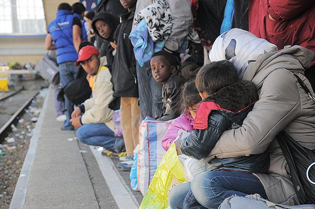 Flüchtlinge am Westbahnhof