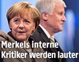 Die deutsche Kanzlerin Angela Merkel und der CSU-Chef und bayerische Ministerpräsident Horst Seehofer
