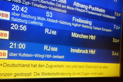 Eindrücke vom Salzburger Bahnhof