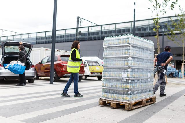 Getränkeanlieferung am Hauptbahnhof