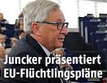 EU-Kommissionspräsident Jucker hält eine Rede