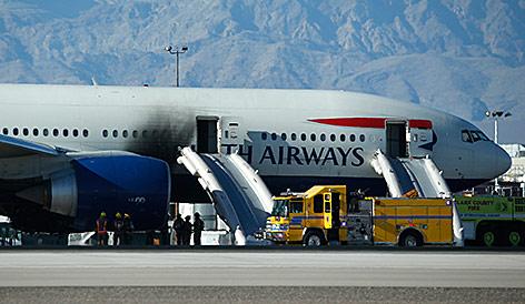 Feuerwehreinsatz nach Flugzeugbrand