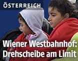 Flüchtlinge am Wiener Westbahnof