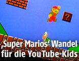"""Abfotografierter Bildschirm zeigt das Nintendo-Spiel """"Super Mario"""""""