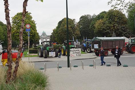 Bauernproteste in Brüssel