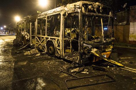 Ausgebrannter Bus