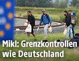 Flüchtlinge an der österreichischen Grenze