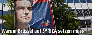 Wahlplakat mit dem griechischen Premierminister Alexis Tsipras