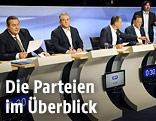 Griechische Politiker bei einer TV-Diskussion
