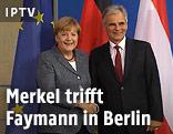 Werner Faymann und Angela Merkel in Berlin