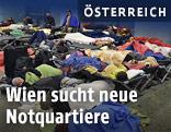 Schlafende Flüchtlinge