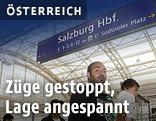 Fküchtlinge am Salzburger Hauptbahnhof