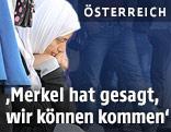 Flüchtlinge auf dem Wiener Westbahnhof