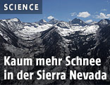 Wenig Schnee in der Sierra Nevada