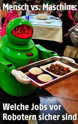 Roboter servieren Essen