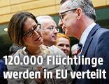 Innenministerin Johanna Mikl-Leitner (ÖVP) und der deutsche Innenminister Thomas de Maiziere