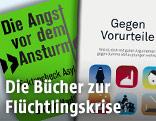 """Buchcovers von """"Die Angst vor dem Ansturm"""" und """"Gegen Vorurteile"""""""